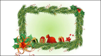 Christmas element border 02 - vector material