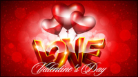 Fancy Valentine background 04 - vector material