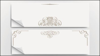 Beautifully banner template 01 - vector material