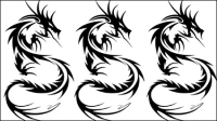 Dragon-shaped patterns 03 - vector material