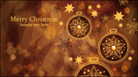 Brown Gorgeous Christmas background 02 - vector material