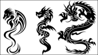 Dragon-shaped patterns 07 - vector material