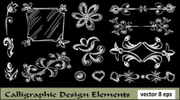 European-style lace pattern line draft 04 - vector material