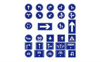 Vector traffic signs marking material