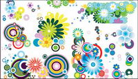 The trend of several lovely flowers element vector material