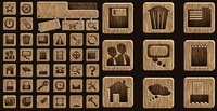 Wood icon vector material