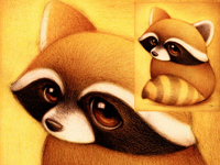 Cute little animals to enjoy the original painting