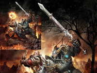 Warhammer series of original paintings