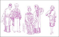 Song Dynasty Yuan Dynasty Apparel Apparel Apparel Ming Dynasty Qing Dynasty clothing line drawing