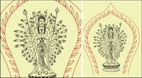 Avalokitesvara line drawings
