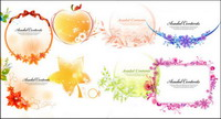 Ribbon, bows, apples, leaves, flowers