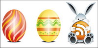 Rabbits, Easter, egg icon