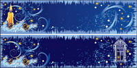 Beautiful Christmas decorations banner Vector material