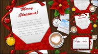 Christmas greeting cards Desktop Vector material