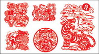 paper-cut Chinese New Year