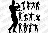 Fitness Person Action Silhouette Vector