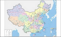 China maps (four-color) vector