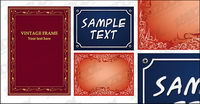 Practical lace border vector material-4
