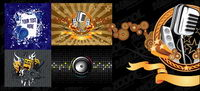 Vector illustrations theme music material