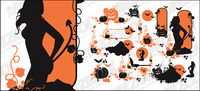 Halloween theme vector pattern material