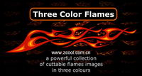 100 of the trend of color flame element vector material
