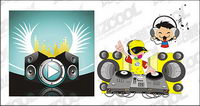 Music theme cdr vector material