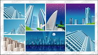 9, city construction material vector