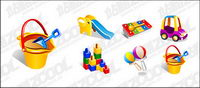 Vector material supplies baby toys
