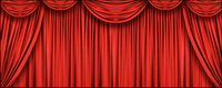 Exquisite red curtain picture material