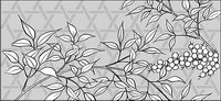 Vector line drawing of flowers-36
