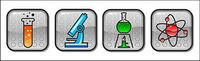 Vector icon category of chemical material