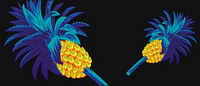 Cool pineapple vector material