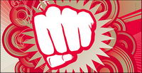 Vector material fist