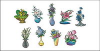Vector illustration style floral material-2