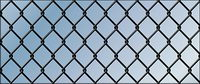 Vector material barbed wire