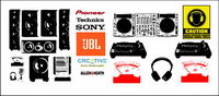 Audio equipment and audio brand LOGO Vector