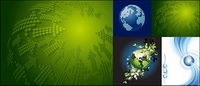 Earth theme vector material
