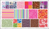 Featured tile pattern vector background material -2
