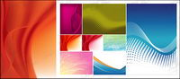 Featured vector background material - softer style