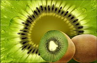 Fruit - kiwifruit psd layered material