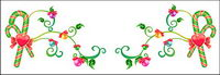 Christmas exquisite lace Vector material -18