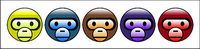 Baby milo Face cute monkey head icon png