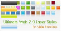 Web 2.0 style navigation buttons and the effects of the png and provide download photoshop style