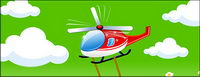 Vector material helicopter cartoons