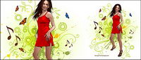 Women and pattern vector-8