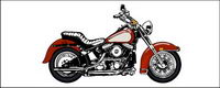 Cool motorcycle vector material