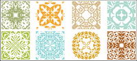 Traditional pattern vector material