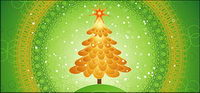 Special Christmas tree vector material