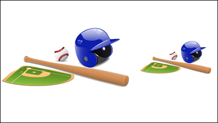 Sports equipment vector material -01