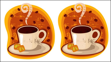 Cartoon coffee cup mount 03 - vector material